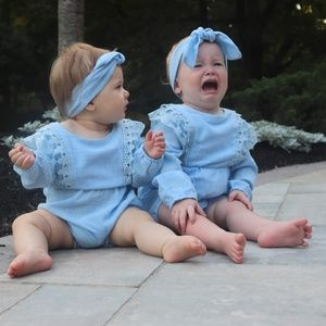 Other - French blue-colored Baby Romper Set